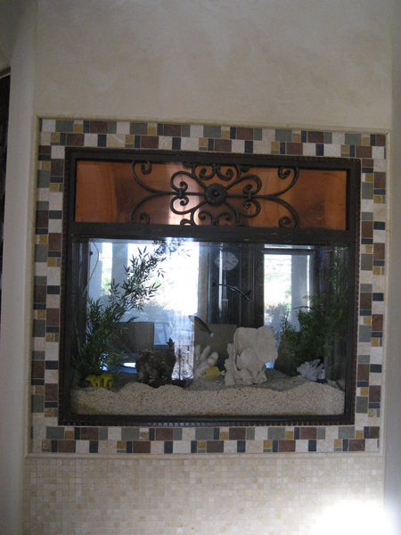 Copper canyon homes view photo fish tank built into wall for Fish tank built into wall