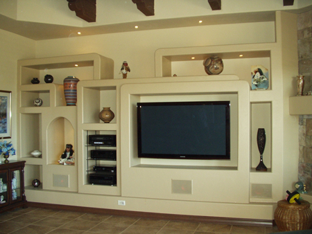 Close Up of Entertainment Center