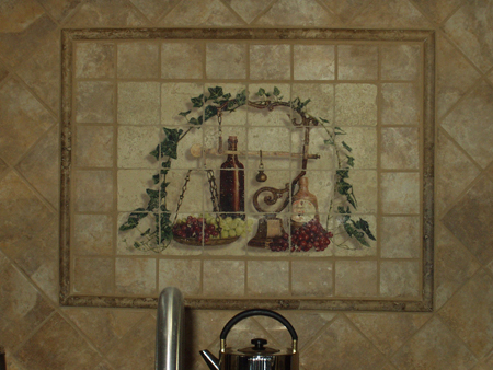 Custom Tile in Kitchen